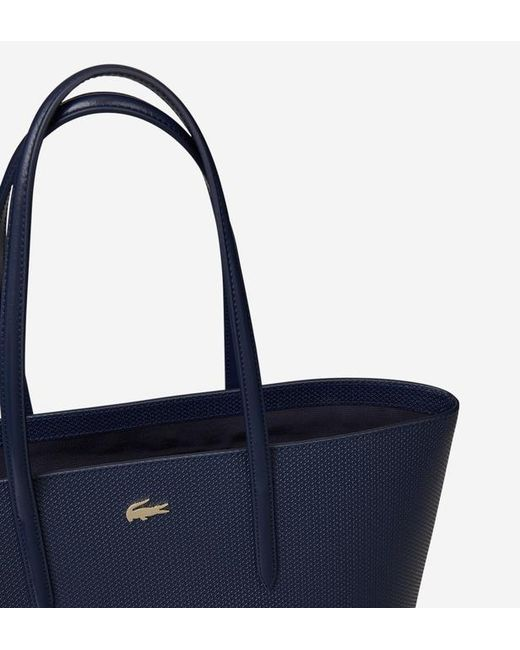 Lacoste Lyst Coloris En Shopping Cuir Sac De Bleu Refente rrpYwA