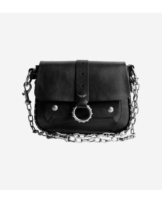 Sac besace Kate x Kate Moss en cuir Zadig & Voltaire en coloris Black