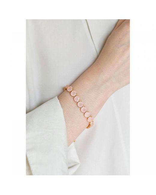 Bracelet Luxe Un Rang La Diamantine Rose Les Nereides en coloris Pink
