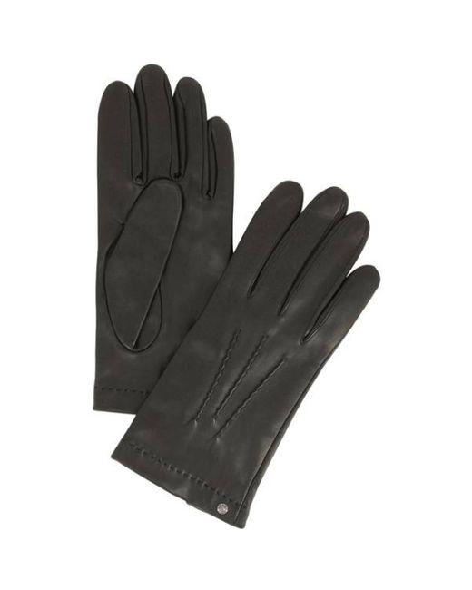 Gants en cuir Isotoner pour homme en coloris Black