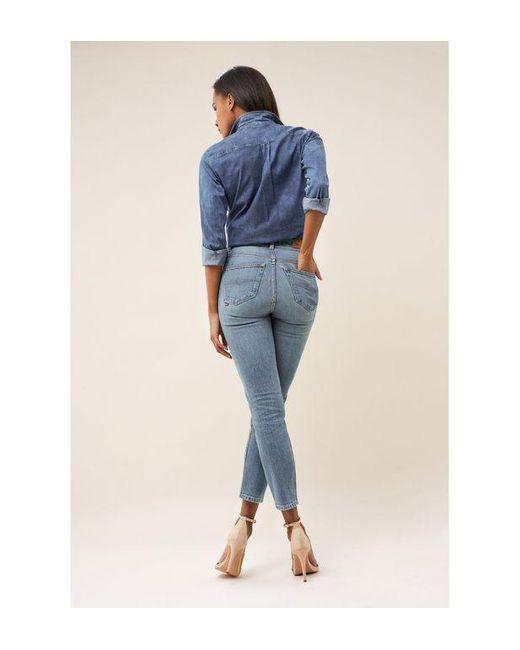 Jean Slim Elegant Reductor Capri Salsa en coloris Blue