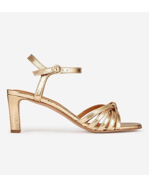 Sandales à talons n°21 cuir craquelé Rivecour en coloris Metallic