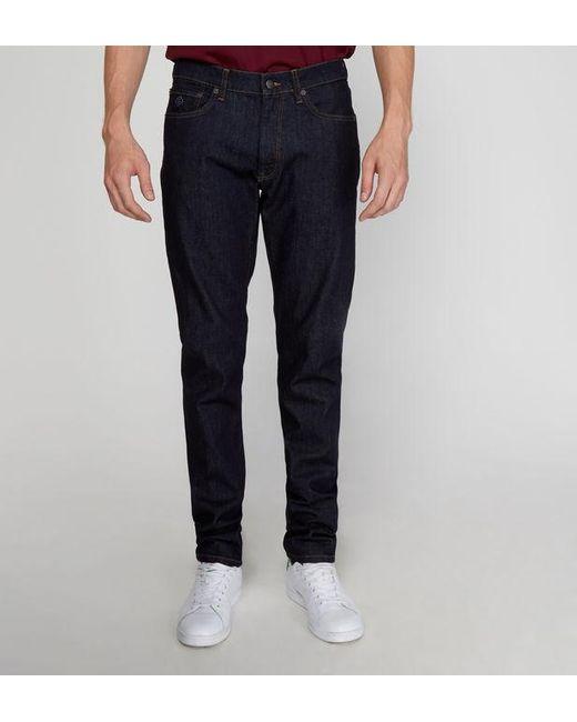 Jean slim stretch brut Gant pour homme en coloris Blue