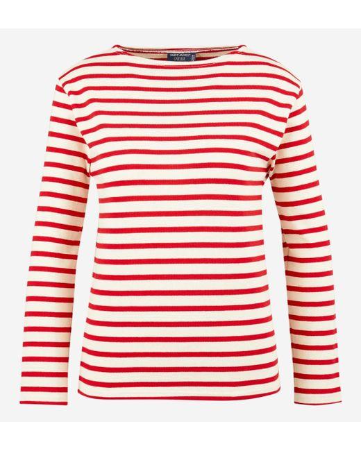 12e6c036d5f0f Saint James - Red T-shirt marinière manches longues épais Guildo - Lyst