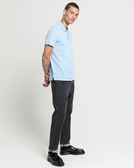 Gant Polo Gant Men/'s Surfer Pique SS Polo Shirt Capri Blue