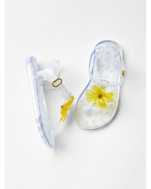 gap flower jelly sandals in transparent clear save 65
