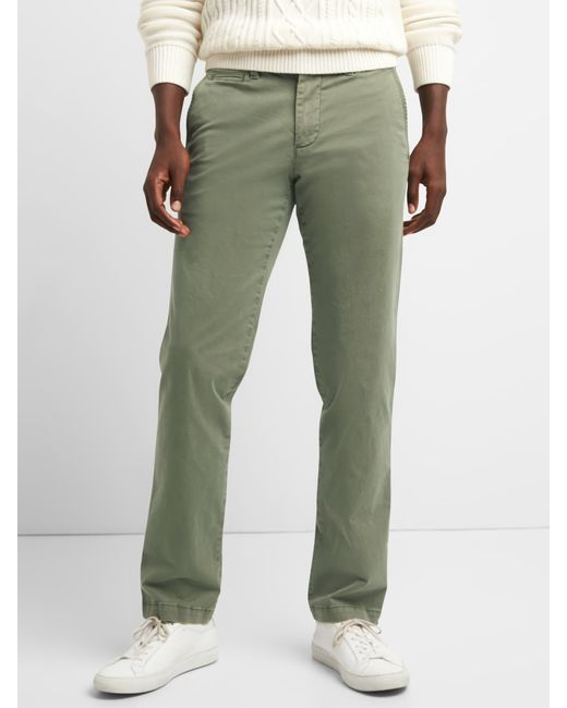 Gap - Green Vintage Wash Khakis In Straight Fit With Flex for Men - Lyst
