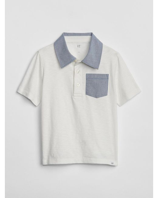 a18a8b983 Lyst - Gap Pocket Polo T-shirt in White for Men