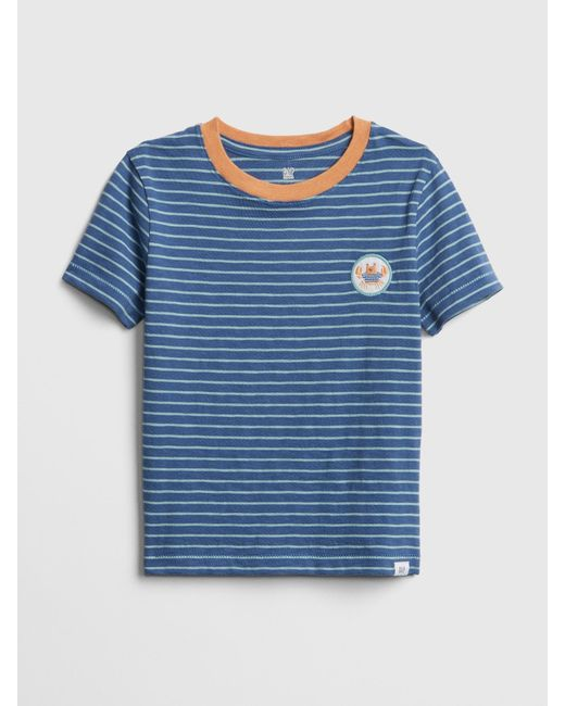 ea39c0a296 Lyst - Gap Stripe Graphic Short Sleeve T-shirt in Blue for Men