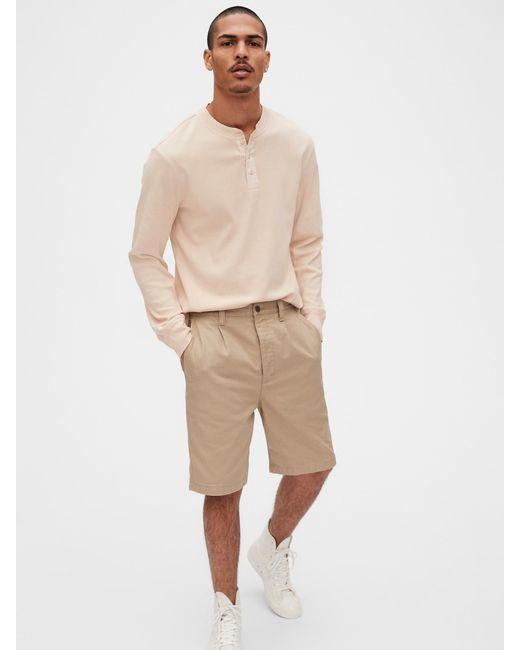 Gap Natural Originals Ribbed Henley T-shirt for men