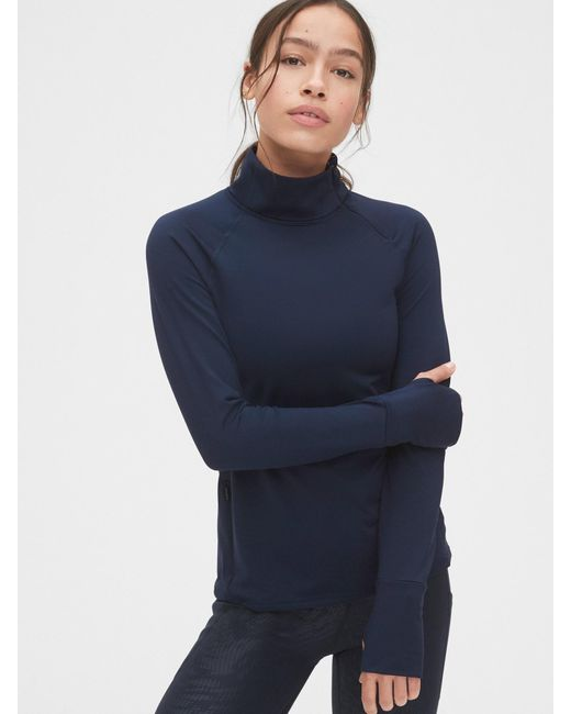 Gap Blue Fit Winterbrush Asymmetrical Half-zip Pullover