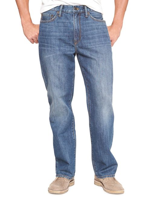 GAP Factory - Blue Relaxed Jeans for Men - Lyst