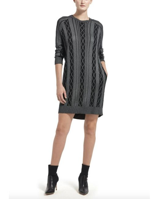 ATM Black Anthony Thomas Melillo Cable-stitch Sweaterdress
