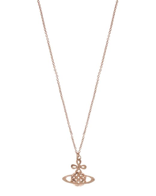 Vivienne Westwood | Metallic Simone Small Bas Relief Pendant Pink Gold | Lyst