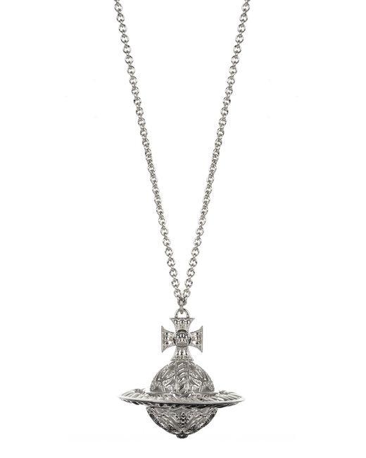 Vivienne Westwood   Metallic Dolores Orb Pendant Rhodium   Lyst
