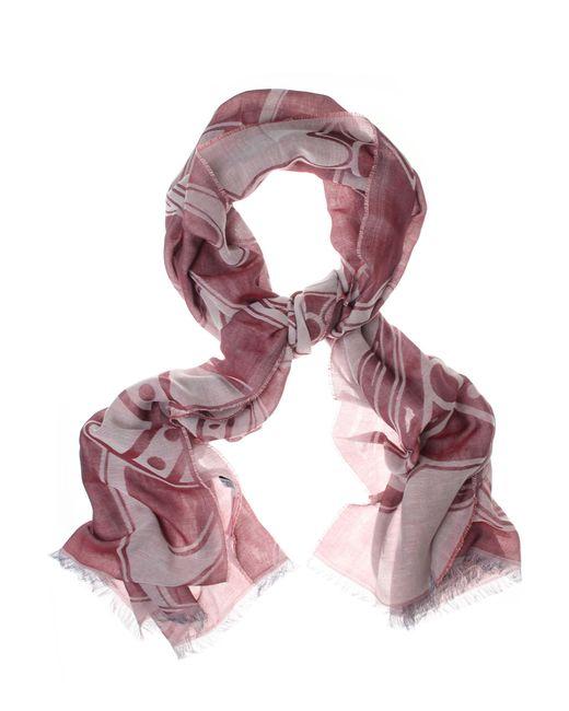 Vivienne Westwood | Pink Paris Orb Scarf Oxblood | Lyst