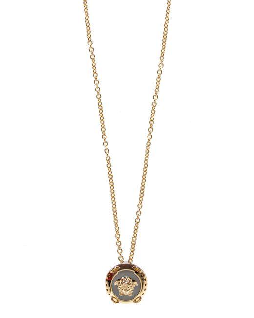 Versace - Metallic Chrome Medusa Necklace Gold/gunmetal for Men - Lyst
