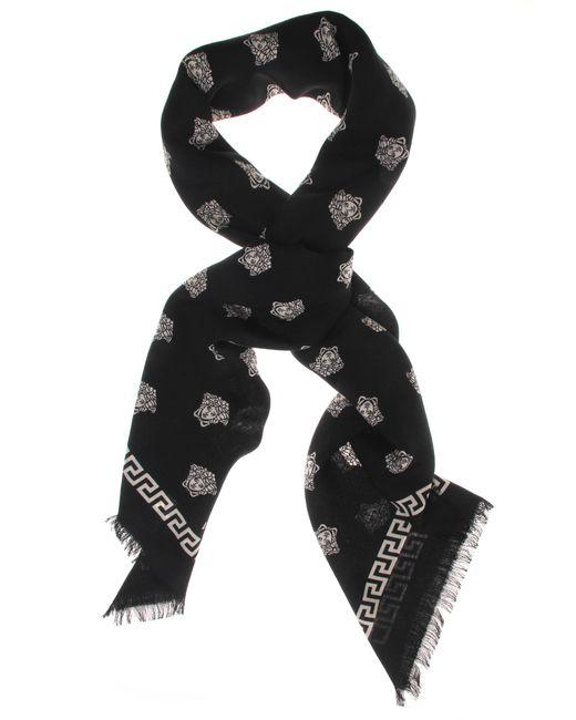 Versace   All Over Medusa Square Scarf Black/white   Lyst