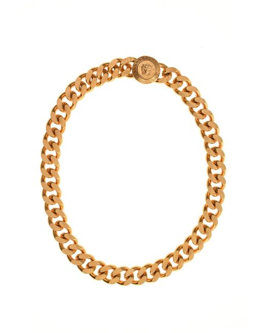 Versace - Metallic Chunky Medusa Necklace Gold for Men - Lyst