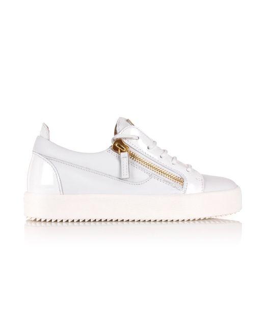 Giuseppe Zanotti | Nicki Low-top Sneakers White/gold | Lyst