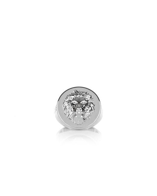 Versus  | Metallic Metal Lion Head Ring Rhodium for Men | Lyst