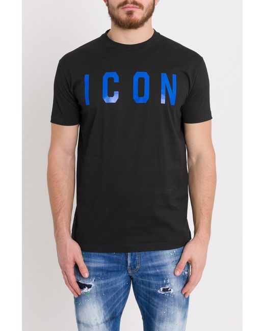 7973c2c91 DSquared² - Black Icon Tee for Men - Lyst ...