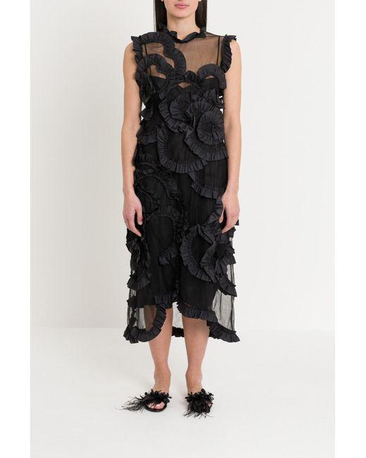 331eaa998a470 Moncler Genius - Black Tulle Dress By Simone Rocha - Lyst ...