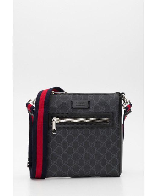 e27aa0818c Men's Black GG Supreme Small Messenger Bag