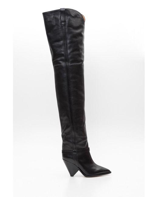 85c232613cc Isabel Marant - Black Lafsten Cuissard Boots - Lyst ...