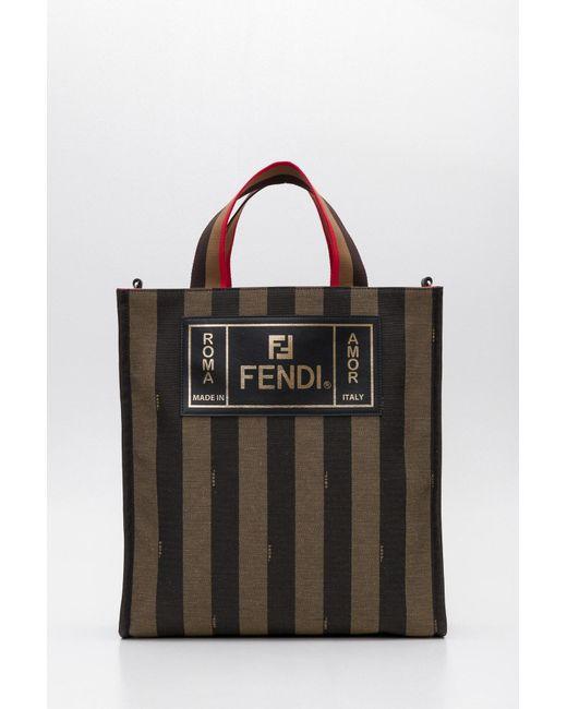 Fendi - Black Striped Tote Bag for Men - Lyst ... dc9eaeac28adc