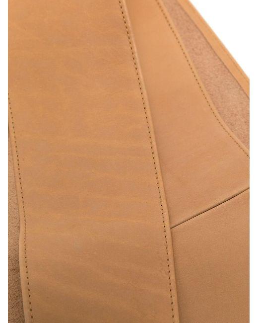 Cintura in Pelle color cammello con Nodo di FEDERICA TOSI in Multicolor