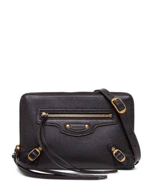 Balenciaga Neo Classic Crossbody Bag In Black Leather
