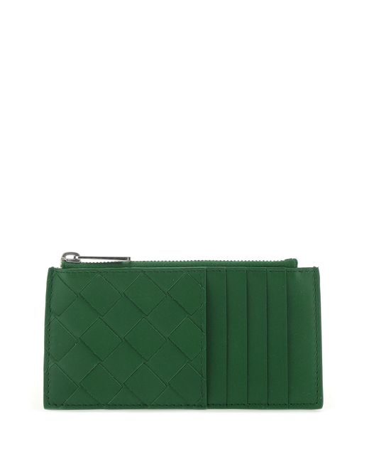 Bottega Veneta Green Nappa Leather Card Holder Uomo for men
