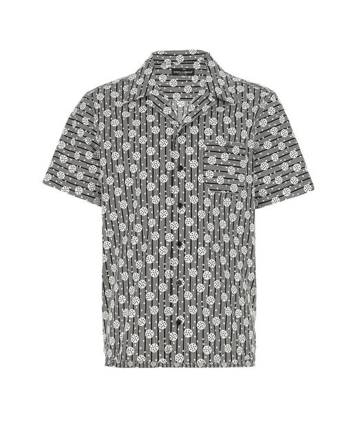 Dolce & Gabbana Multicolor Popeline Shirt Uomo for men