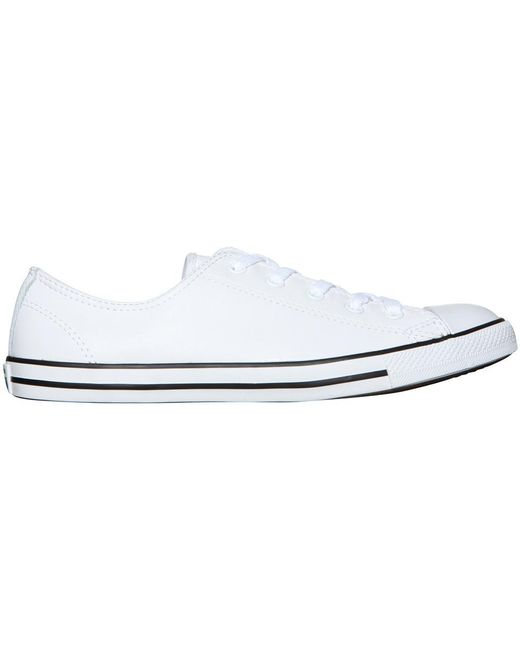 ec54199fe4de40 ... Converse - Chuck Taylor All Star Dainty Leather Sneakers White - Lyst  ...