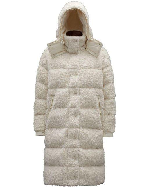 Moncler Long White Hainardia Down Jacket