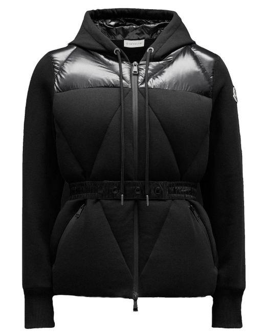 Moncler Black Quilted Sweatshirt