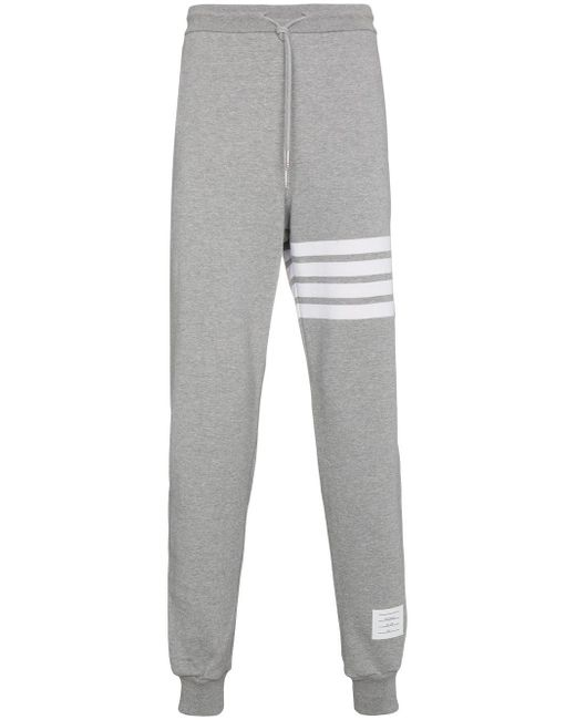 Thom Browne - Gray Sweatpants With Engineered 4-bar Stripe for Men - Lyst