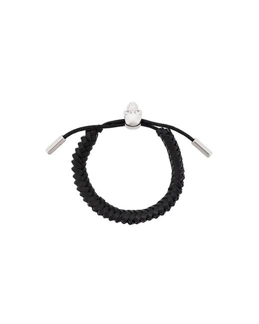 Alexander McQueen - Multicolor Woven Skull Bracelet for Men - Lyst