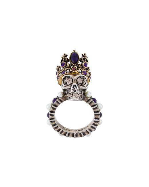 Alexander McQueen - Multicolor King Skull Ring - Lyst