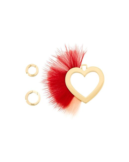Fendi - Multicolor Abclick Fur-trimmed Charm - Lyst