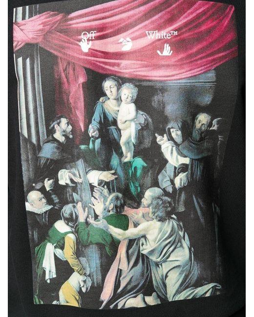 Off-White c/o Virgil Abloh Black Caravaggio Painting Oversized Hoodie for men
