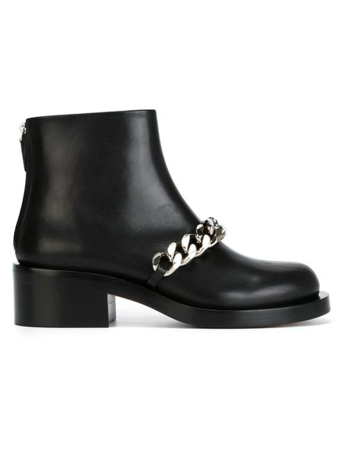 Givenchy - Multicolor Chain Strap Ankle Boot - Lyst