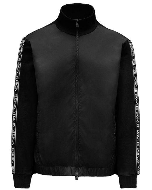 Moncler Black Stand Collar Sweatshirt for men