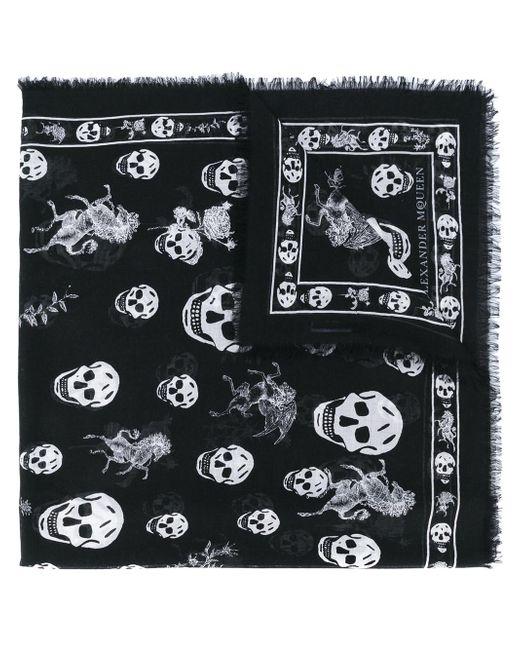 Alexander McQueen - Black Skull-print Scarf for Men - Lyst