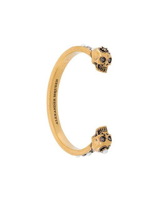 Alexander McQueen - Metallic Skull Cuff Bracelet - Lyst