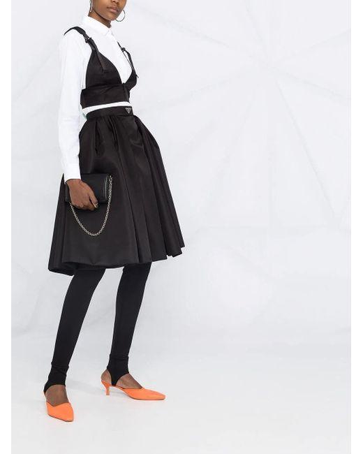 Top in Gabardine Re-Nylon di Prada in Black