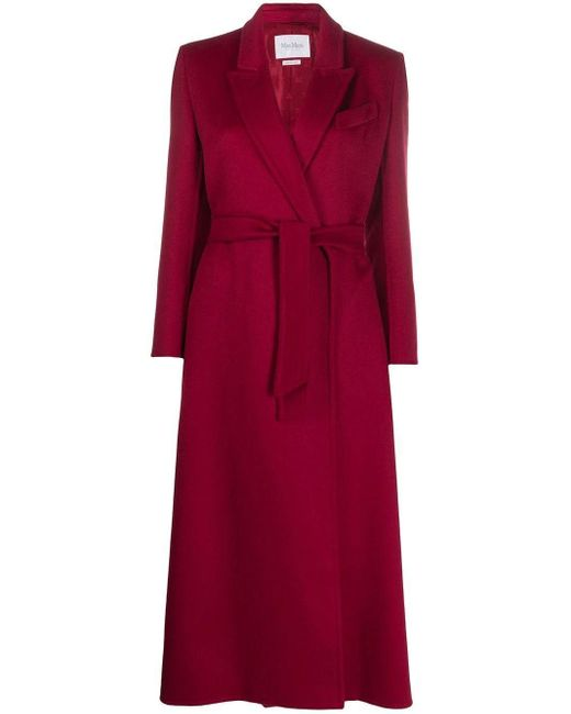 Max Mara Red Kriss Cashmere Coat