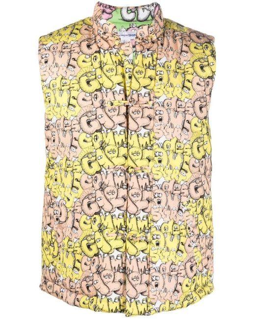 Comme des Garçons Multicolor Yellow And Orange X Kaws Waistcoat for men