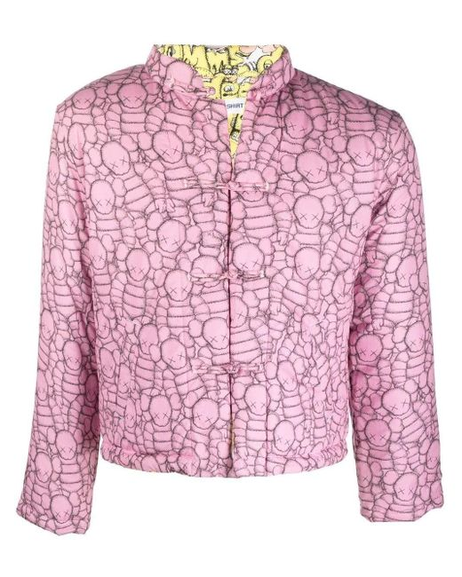 Comme des Garçons Pink X Kaws Reversible Padded Jacket for men